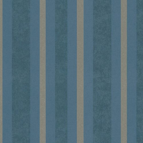 Non-woven wallpaper blue silver striped Marburg 56117 online kaufen