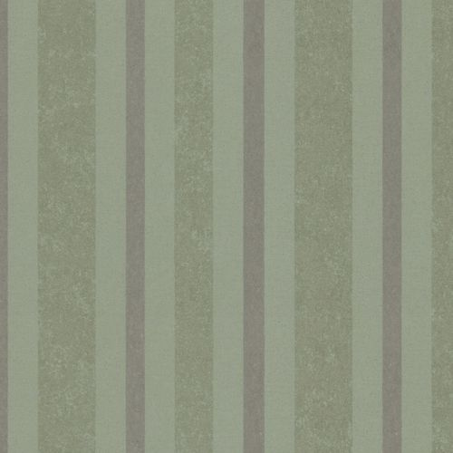 Non-woven wallpaper green silver striped Marburg 56113