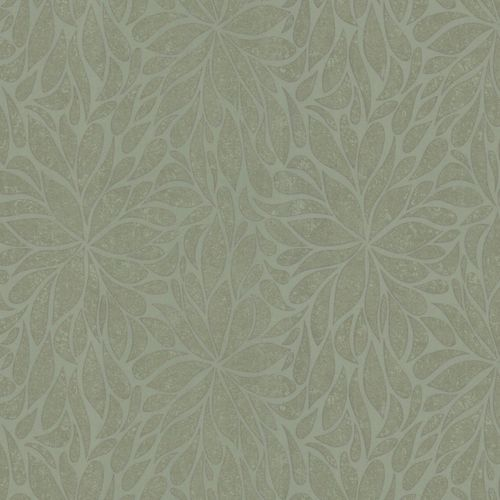 Non-woven wallpaper green silver flower Marburg 56118