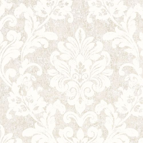 Non-woven wallpaper cream ornament Marburg 56151