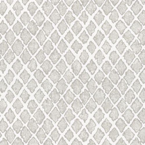 Non-woven wallpaper grey silver rhombus Marburg 56124 online kaufen