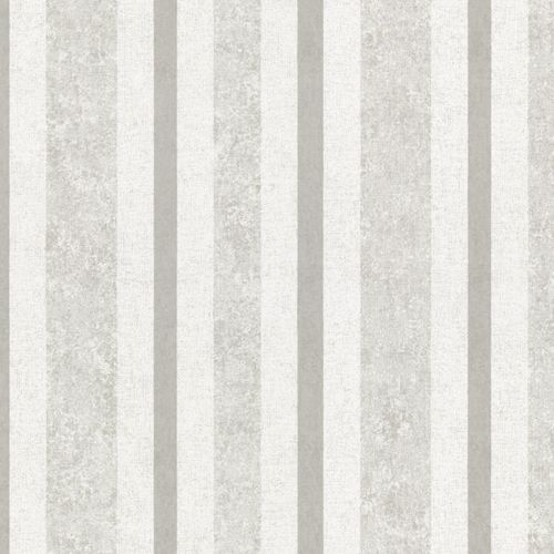 Non-Woven Wallpaper Stripes grey silver Metallic 56114