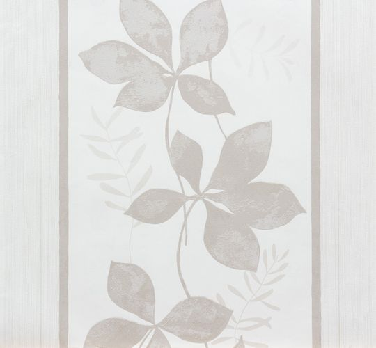 Wallpaper non-woven white grey floral Marburg 56746
