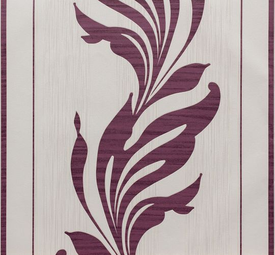 Wallpaper non-woven purple cream floral Marburg 56732