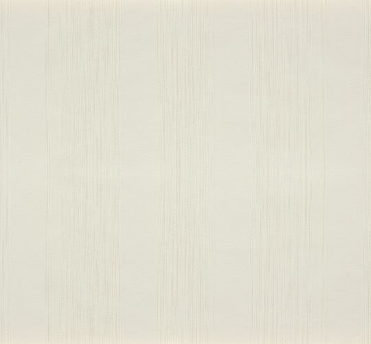 Non-Woven Wallpaper Block Stripes cream white Gloss 56726
