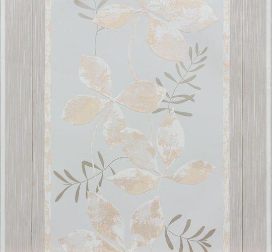 Vliestapete grau beige Blumen Marburg 56745