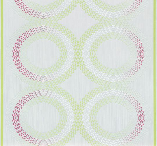 Wallpaper non-woven green pink graphic Marburg 56742