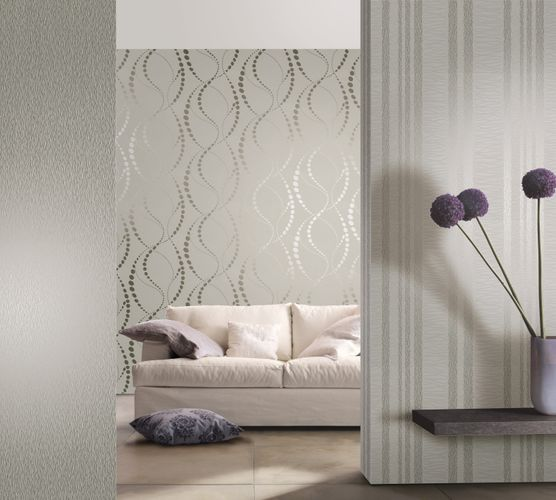 Non-woven wallpaper grey striped Marburg 56437 online kaufen