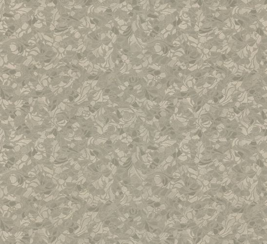 Wallpaper grey silver flower Opulence Marburg 56040