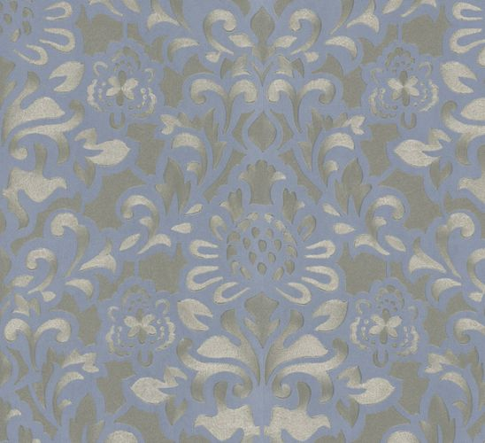 Non-Woven Wallpaper Flowers blue Opulence Marburg 56003