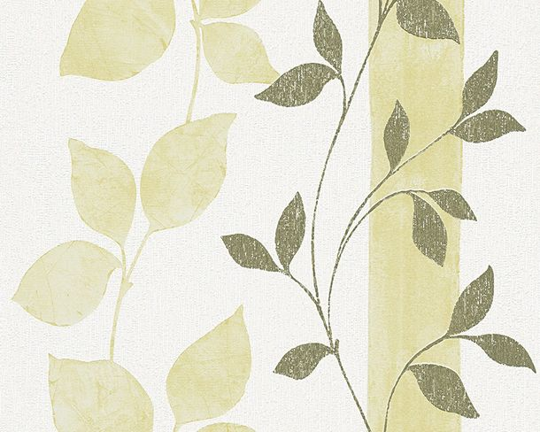 Wallpaper green white leaves AS Creation 30092-1 online kaufen