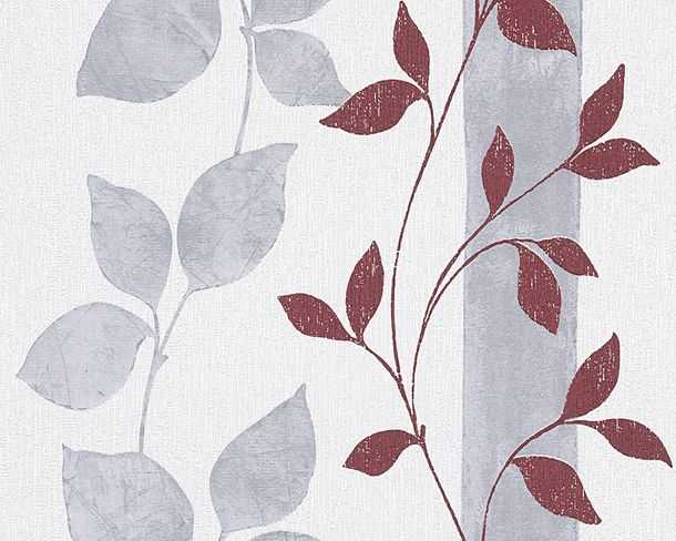 Wallpaper white grey leaves AS Creation 30092-5 online kaufen