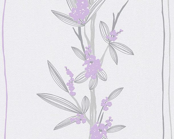 Wallpaper white purple floral AS Creation 30137-2 online kaufen