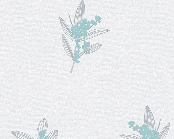 Wallpaper white grey floral AS Creation 30138-1