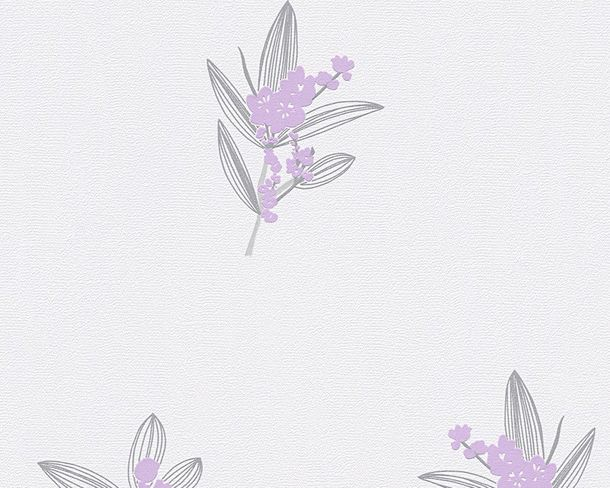 Wallpaper white purple floral AS Creation 30138-2
