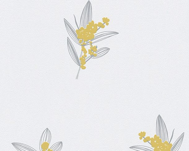 Wallpaper white yellow floral AS Creation 30138-3