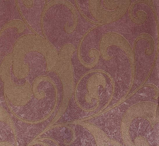 Non-woven wallpaper red gold flower Marburg 56810