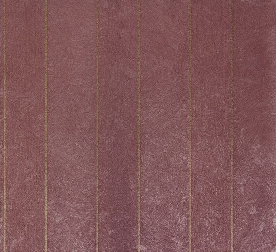 Non-Woven Wallpaper Plaster Stripes violett Glitter 56848