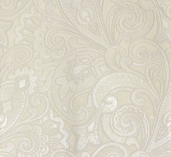 Non-woven wallpaper white cream baroque Marburg 56827 online kaufen