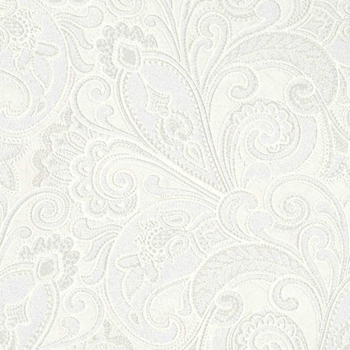 Non-woven wallpaper cream white baroque Marburg 56825