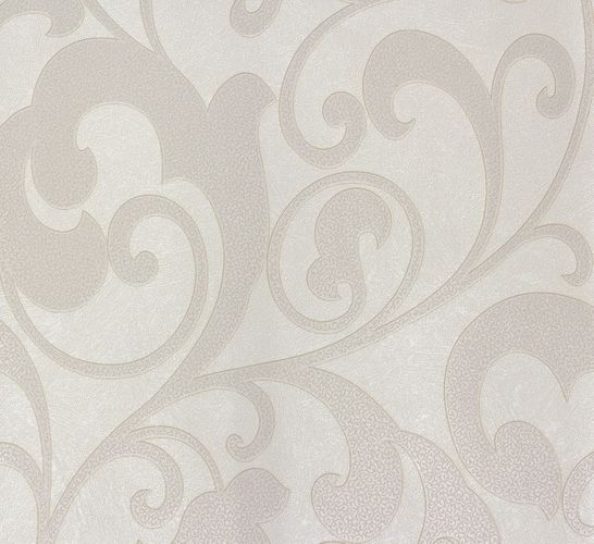 Non-woven wallpaper white cream flower Marburg 56809 online kaufen