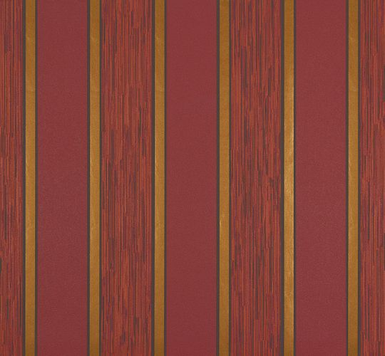 Wallpaper red gold striped Marburg 56929