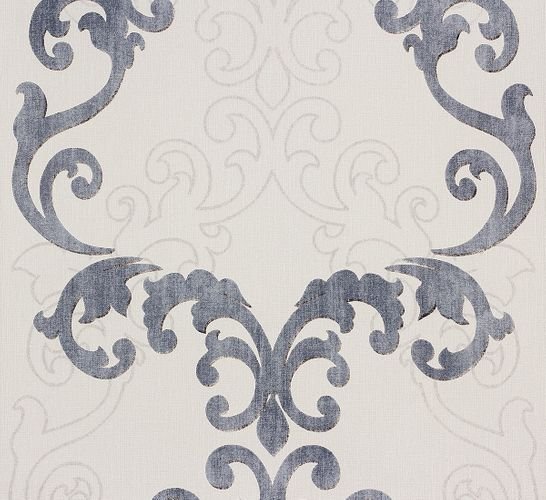 Wallpaper grey baroque Ornaments Rasch 849813 online kaufen