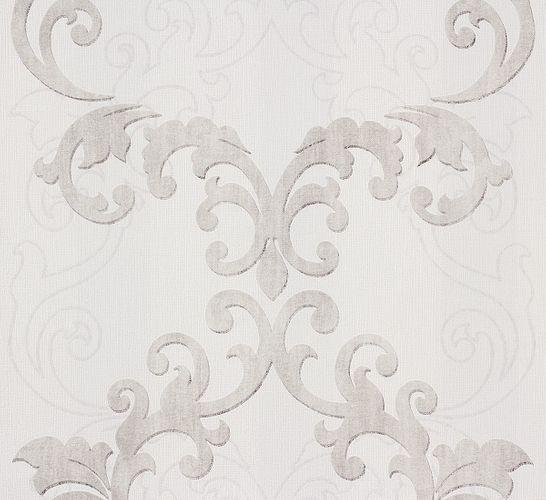 Wallpaper grey baroque Ornaments Rasch 849806