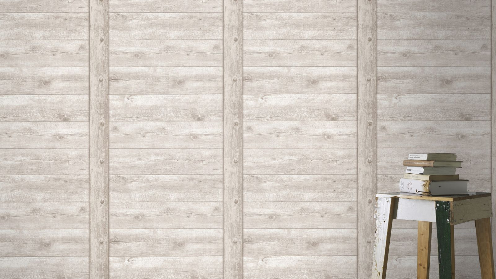 Wallpaper wood board vintage rasch grey 861402 for Tapete holz