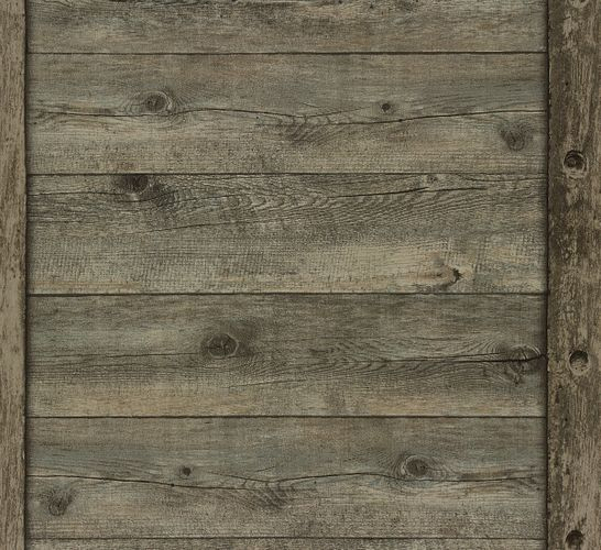 Wallpaper wood board vintage Rasch brown 861419