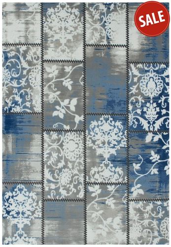 Carpet blue grey oriental Retro 4 sizes online kaufen