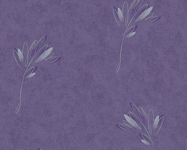Wallpaper purple flowers AS Creation 30130-2