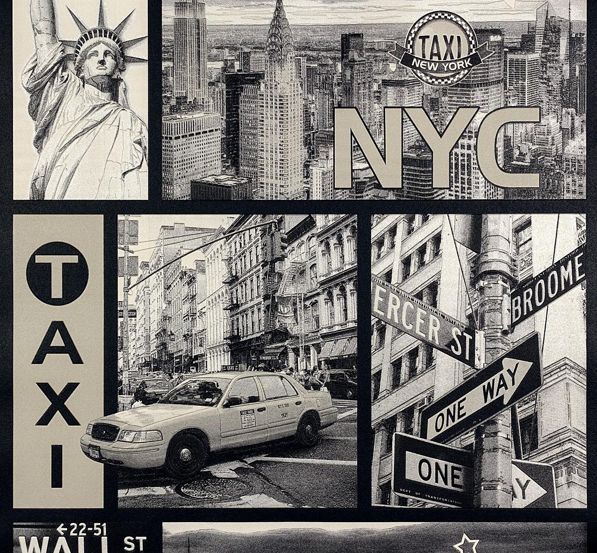 Tapete New York Usa Schwarz Weiss Faro 30045 2