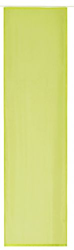 Panel curtain green uni transparent 60x245 cm 197186