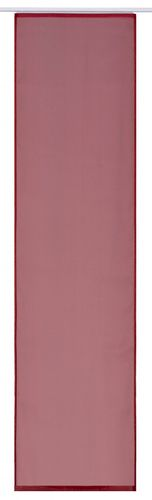 Panel curtain red uni transparent 60x245 cm 197193 online kaufen