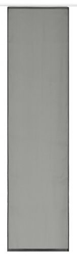 Panel curtain grey uni transparent 60x245 cm 197216 online kaufen