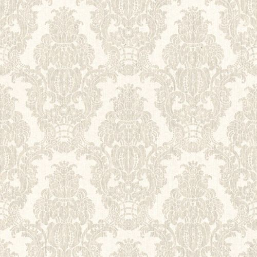Wallpaper cream silver baroque Rasch Textil 076416