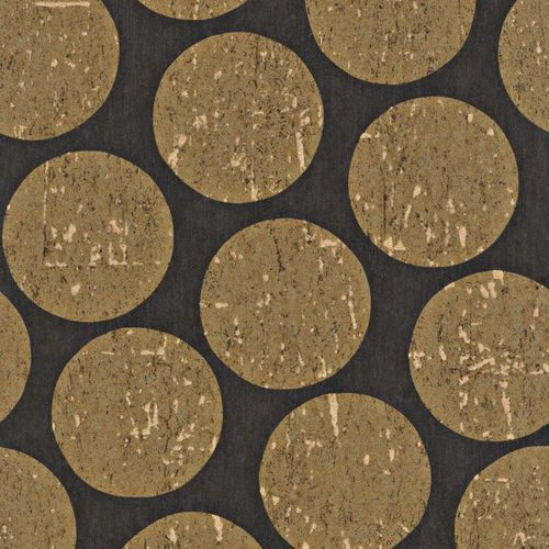 Wallpaper black gold circle Rasch Textil 226637 online kaufen