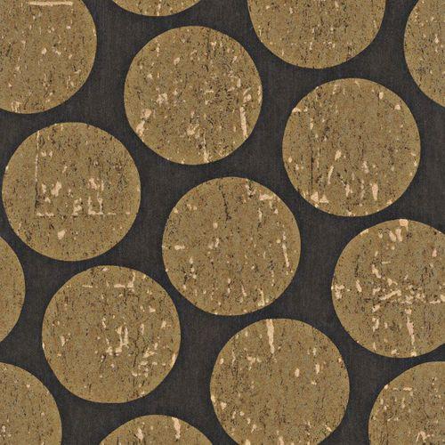 Vliestapete schwarz gold Kreise Rasch Textil 226637 online kaufen