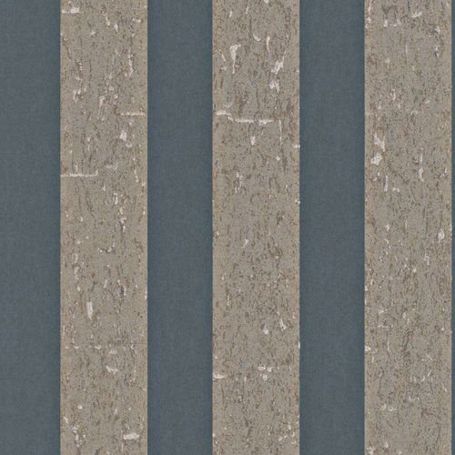 Wallpaper blue brown stripes Rasch Textil 226682