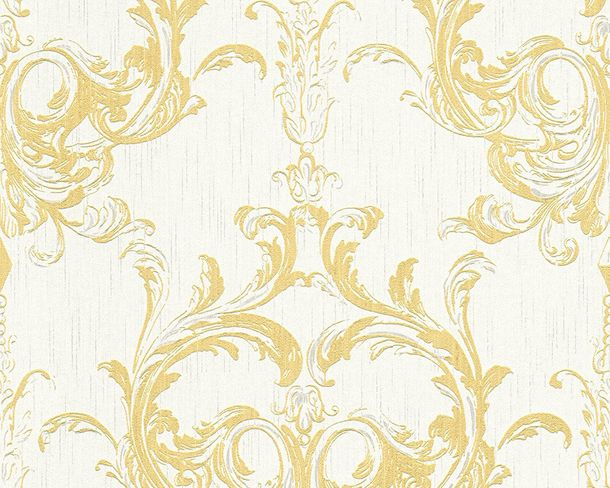 Wallpaper yellow white ornament Tessuto 96196-5 online kaufen