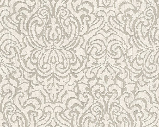 Wallpaper grey white ornament Tessuto 96193-3