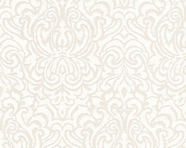 Wallpaper white cream ornament Tessuto 96193-5