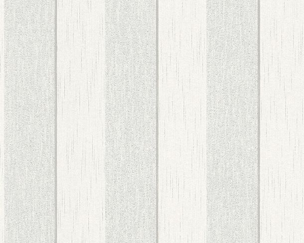 Wallpaper white grey stripedd Tessuto 96194-1