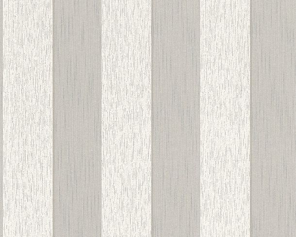 Wallpaper grey white striped Tessuto 96194-2 online kaufen
