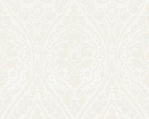 Wallpaper white cream ornament Tessuto 96195-4 online kaufen