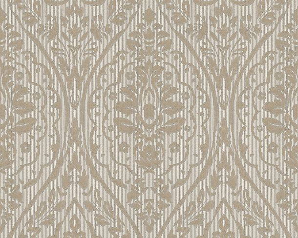 Wallpaper beige grey ornament Tessuto 96195-6