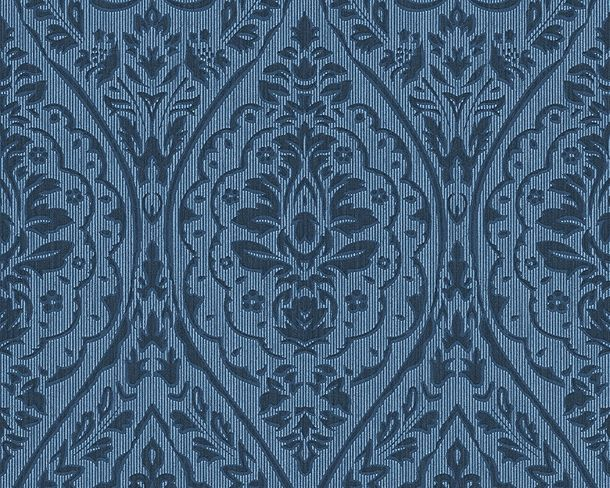 Wallpaper blue ornament Tessuto 96195-8