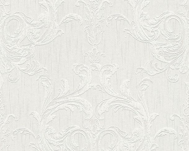 Wallpaper white grey ornament Tessuto 96196-1 online kaufen