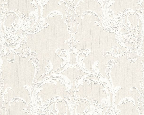 Wallpaper white cream ornament Tessuto 96196-2 online kaufen